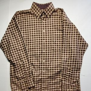 Burberry men's dress shirt size L Made in the USA